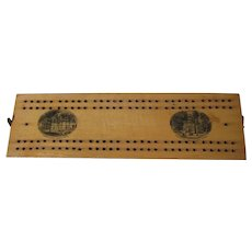 Antique Mauchline Cribbage Board, Curtis Hotel, Sedgwick Hall, Lenox Massachusetts