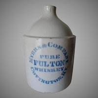 Antique Advertising Stoneware Jug, Meyers & Co Whiskey Covington Kentucky