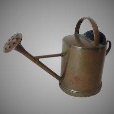 Circa 1900 Miniature Garden Watering Can Sewing Pincushion