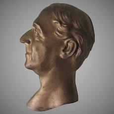 Vintage Bronze Plaque, Admiral David Glasgow Farragut, Civil War Officer