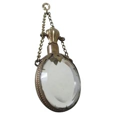 Antique Chatelaine Perfume Bottle with Beveled Glass Mirrors