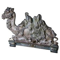 Antique Egyptian Revival Camel Bookends, Desk Accessories