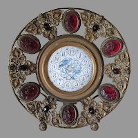 Lovely Antique Clock Case with Cameos, Cherub Angels and Bird
