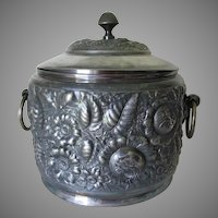 Antique c1890 ADELPHI Silver Plate Tureen, Punch Bowl, Floral Motif