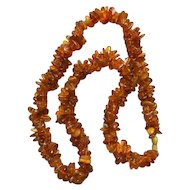 Art Deco Double Twisted Strand Amber Necklace