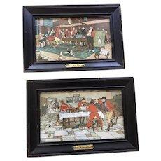 "Cecil Aldin's ""Fallowfield Hunt"" Pair of Prints in Original Frames"