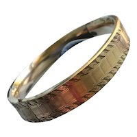 Victorian Gold Filled Bangle by S O Bigney