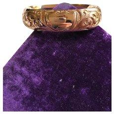 Edwardian Wide Gold Filled Bangle Bracelet