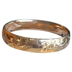 Edwardian Gold Filled Bangle by Finberg Manufacturing Co.