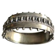Victorian Sterling Wide Bangle Birmingham 1884