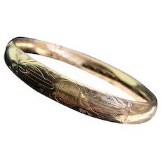 Edwardian Gold Filled Bangle Bracelet