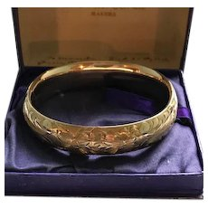 Victorian/Edwardian Gold Filled Bangle by Ballou