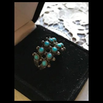 Vintage Bell Trading Post Signed Sterling Zuni Style Ring