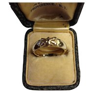 Wide 14K Butterfly Band Ring Brown Goldsmiths