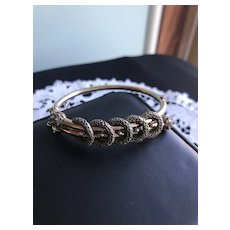 Victorian Gold Filled Crossover Bangle