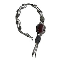 Vintage Sterling Carnelian Necklace