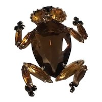 Signed Alice Caviness Frog Brooch