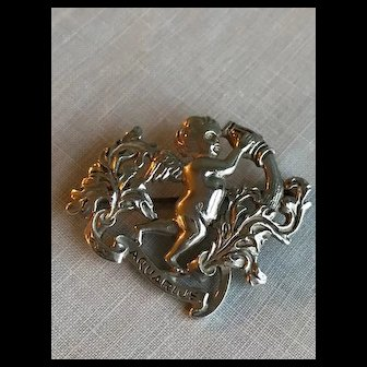 Cini Sterling Aquarius Brooch