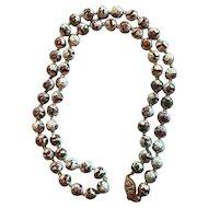 14K Gold Filled Vintage Cloisonne Bead Necklace