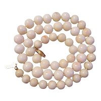 14K Angel Skin Coral Necklace