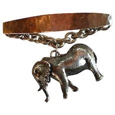 Rare Susan Cummings Sterling Elephant Brooch - Red Tag Sale Item