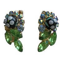 Juliana sugar Bead Earrings Book Piece