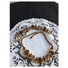 Juliana Necklace /Bracelet Set Topaz/Black Diamonds