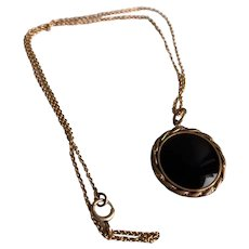Vintage Gold Filled Intaglio Watch Fob and Chain