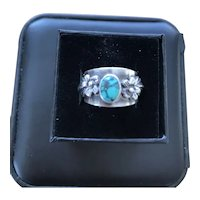 Carol Felley sterling Turquoise ring 1986