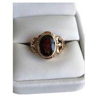 14K Austro-Hungarian Marked Bohemian Garnet Ring