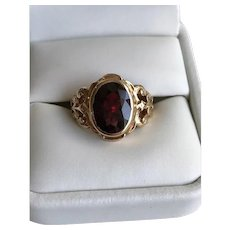 14K Austro-Hungarian Marked Bohemian Garnet Ring