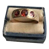 14K Victorian Austro-Hungarian Spessartite Garnet Ring