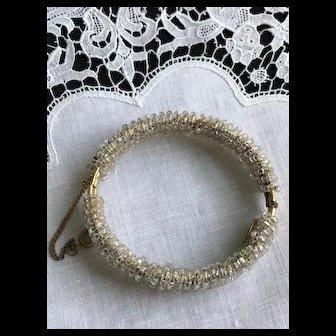 Miriam Haskell Glass Beaded Bracelet Signed