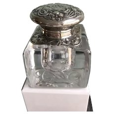 Gorham Sterling Art Nouveau Ink Well