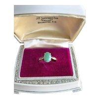 Vintage 14K Jadeite Jade Ring