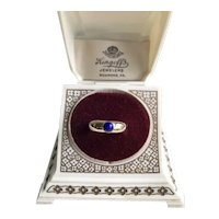14K Lapis Lazuli Wide Band Ring