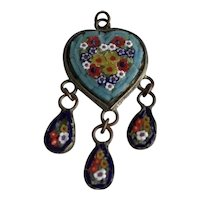Art DECO Era Vintage Micro Mosaic Pendant