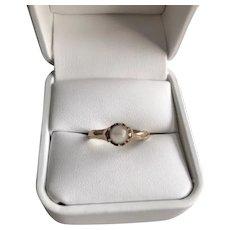 Victorian 14K Moonstone Orb Ring