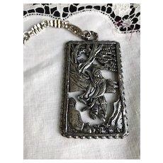 Napier 1970's Asian Theme Necklace Book Piece