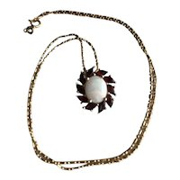 "14K Opal & Garnet 18"" Necklace"