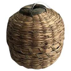 Passamaquoddy Sweet Grass/Ash Thread Holder