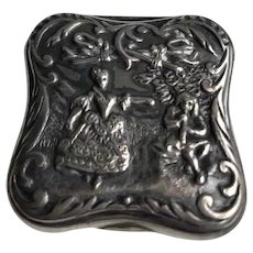 Victorian Sterling Repousse Box Signed Whiting