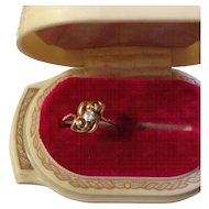 14K Victorian/Edwardian Diamond Love-knot Ring
