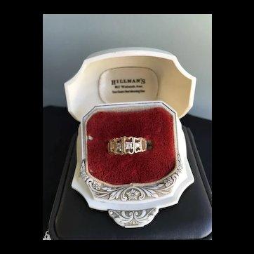 14K Gold Three Diamond Ring