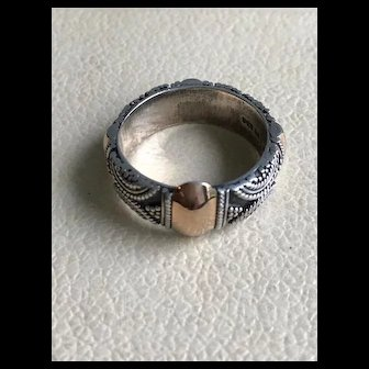 18K and Sterling Suarti BA Ring