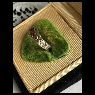 14K & Sterling Hopi Artist Signed Ring
