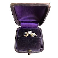 Edwardian 14K Three Diamond Ring
