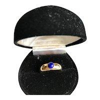 14K  Gold Vintage Lapis Ring