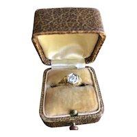 14K Art Deco Filgree Diamond Ring
