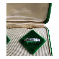 14K White Gold Vintage Diamond  Eternity Ring